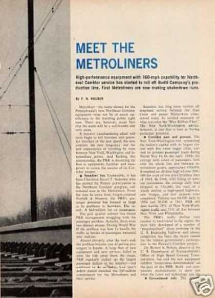 """Meet the Metroliners"" Article/prr (1967)"