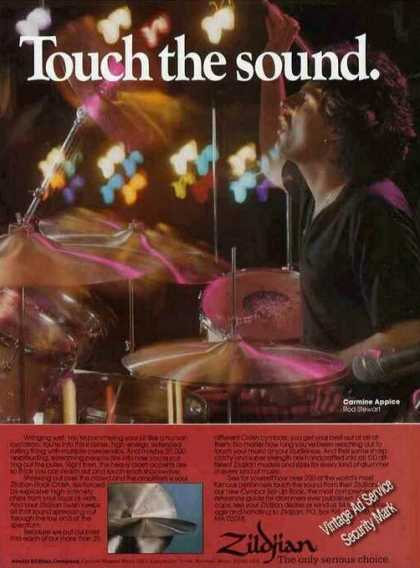 Carmine Appice Photo (rod Stewart) Zildjian (1981)