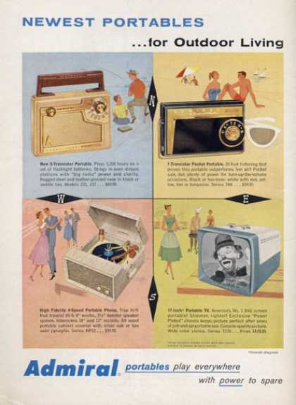 Admiral Television Portable Tv Radio (1957)