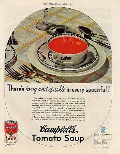 "Campbell's Tomato Soup Ad ""There's Tang... (1934)"
