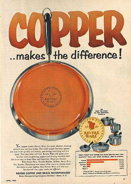 "Revere's ""Copper...makes the difference!"" (1954)"