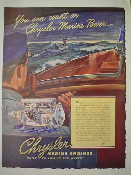 Chrysler Marine Engines Classic looking wood boat (1947)