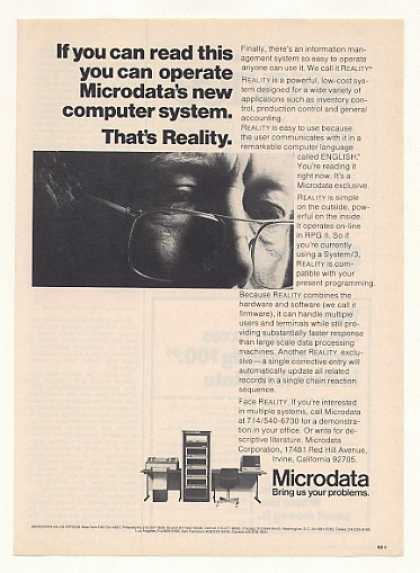 Microdata Reality Computer System (1974)