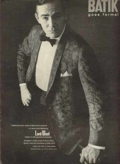 Lord West Fashion Tuxedo Dinner Jacket (1961)