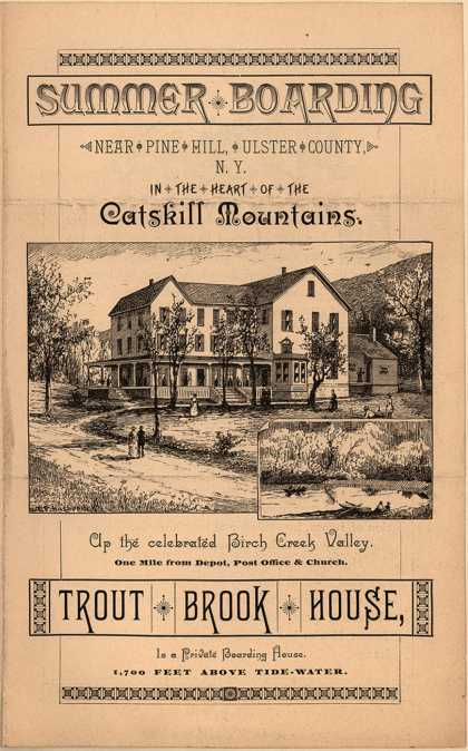 Trout Brook House's Boarding House – Summer Boarding
