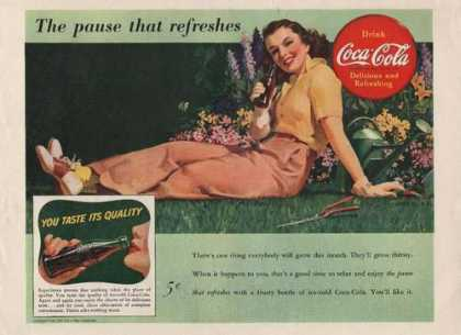 The Pause That Refreshes Coca Cola (1941)