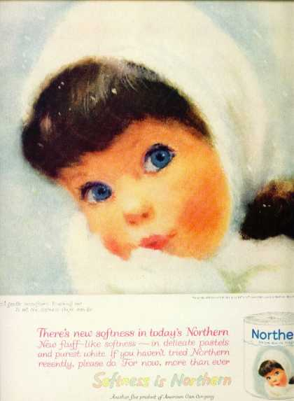 Northern Toilet Paper Ad C Northern Girl (1958)