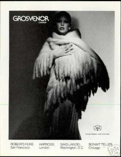 Grosvenor Fur Violet Mink Shawl Photo Vintage (1979)