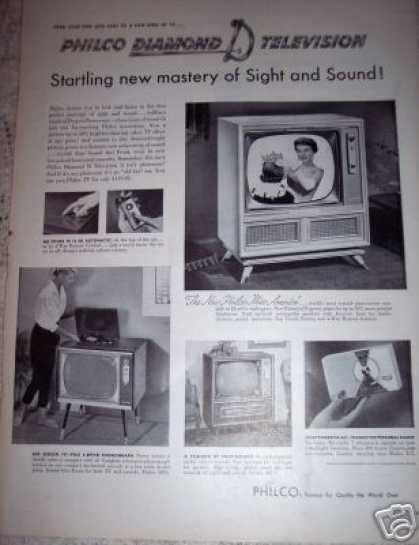 Philco Tv Big Screen Television W/ Phonograph (1956)