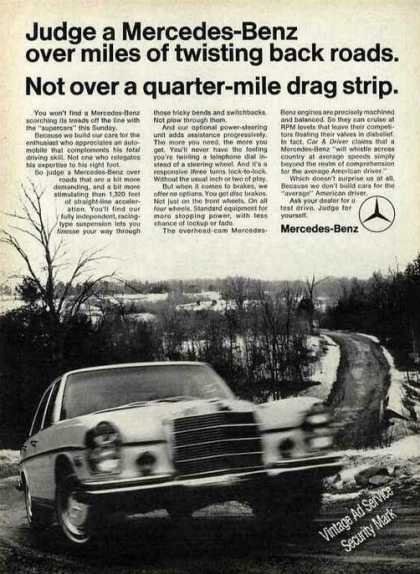 "Mercedes-benz ""Miles of Twisting Back Roads"" (1970)"