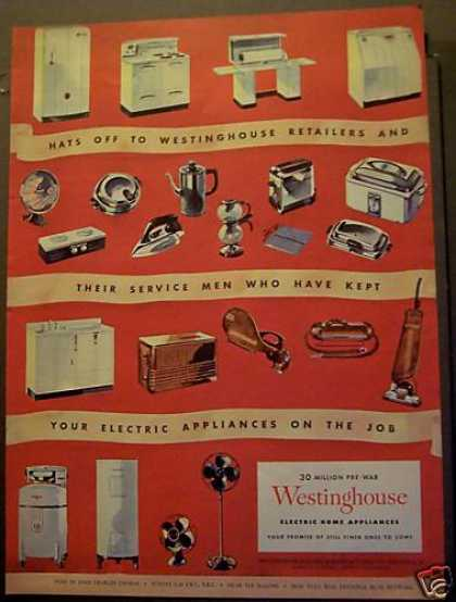 Westinghouse Home Appliances Stove Vacuum (1945)