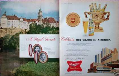 Miller High Life Beer Celebrates 100 Years Castle (1955)