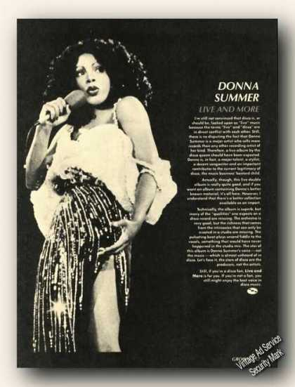 Donna Summer Photo Print Feature Music (1978)