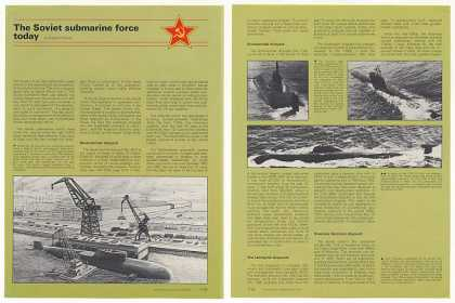 Soviet Union Submarine Force 5-Page Photo Article (1987)