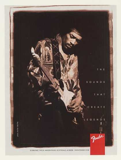 Jimi Hendrix Fender Guitar Legends Photo (1999)