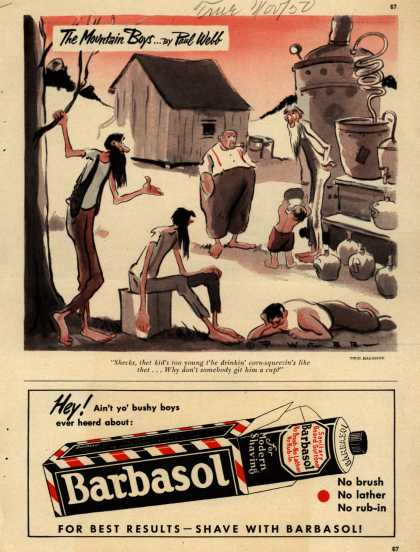 Barbasol – The Mountain Boys... By Paul Webb (1950)