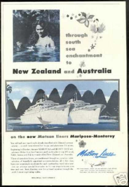 New Zealand Australia Matson Lines Cruise (1956)