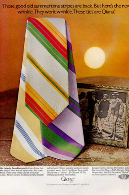 Qiana Mr John Beau Brummell Fashion Ties (1971)