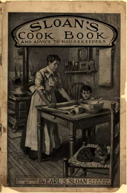 Dr. Earl S. Sloan's Dr. Parker's Anti-Dyspeptic Tablets – Sloan's Cook Book and Advice to Housekeepers (1905)
