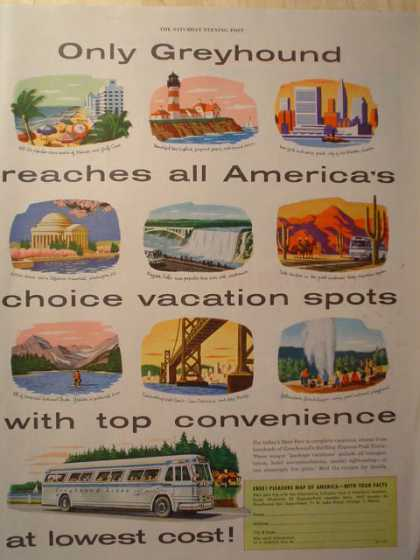 Greyhound Vacation Destinations & Millers Falls Drill (1954)