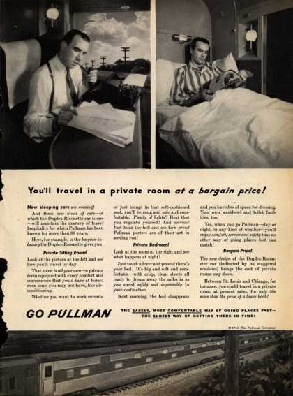 Pullman Company – You'll travel in a private room at a bargain price (1946)