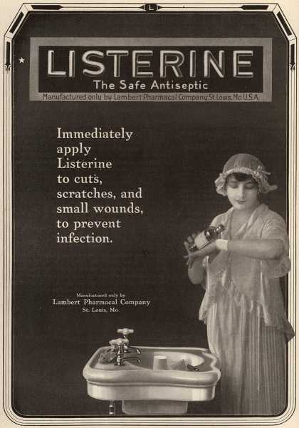 Lambert Pharmacal Company&#8217;s Listerine &#8211; Listerine The Safe Antiseptic (1917)