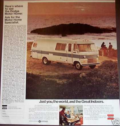 Dodge Travco 27' Motor Home Model 270 Photo (1969)