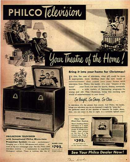 Philco's Television – PHILCO Television Your Theatre of the Home (1947)