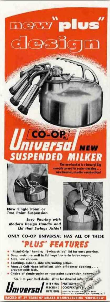 Universal Suspended Milker Photos Farm (1955)