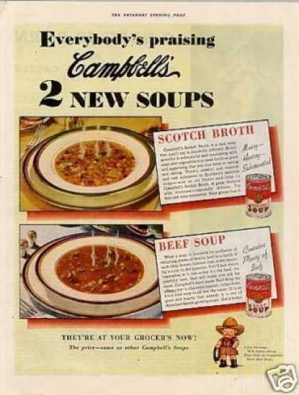 Campbell's Soups Ad Scotch Broth, Beef (1936)