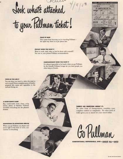 Pullman Company – Look what's attached to your Pullman ticket (1950)