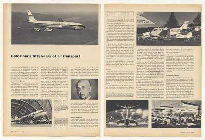 Avianca Colombia Airlines 50 Years Photo Article (1969)