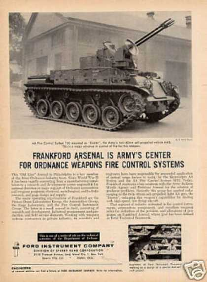 Ford Instrument Ad Army's M42 Tank (1956)
