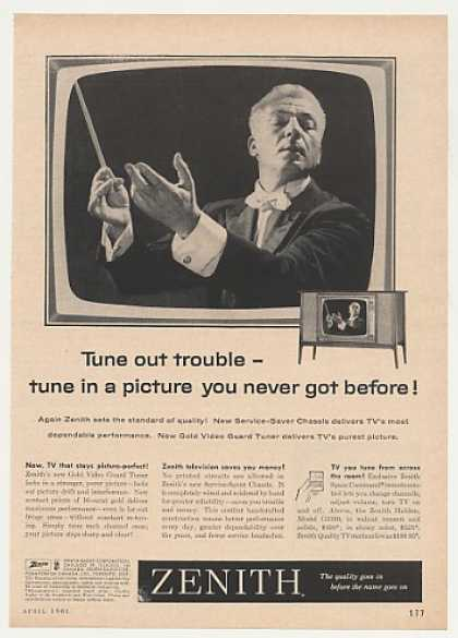 Zenith Halden TV Television Music Conductor (1961)