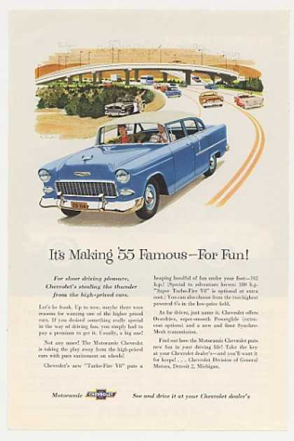 Chevy Chevrolet Motoramic Famous for Fun (1955)