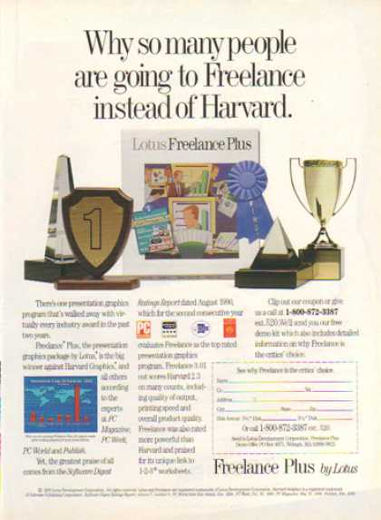 Lotus Freelance Plus Program – Freelance instead of Harvard (1990)