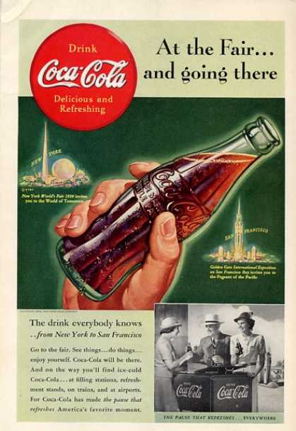 Coke Bottle New York World Fair T (1939)