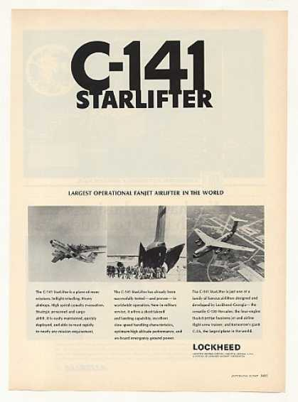 Lockheed C-141 StarLifter Aircraft Photo (1967)