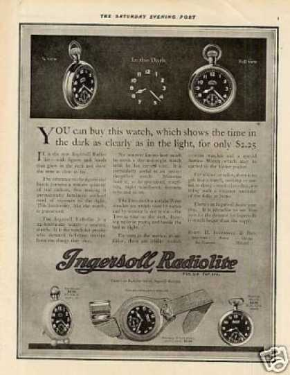 Ingersoll Radiolite Watches (1918)