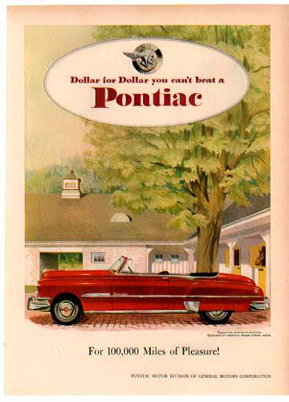 Pontiac Eight Convertible Coupe Car – Red (1951)