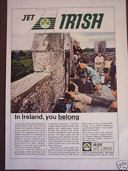 Kiss the Blarney Stone Irish Aer Lingus Airline (1967)
