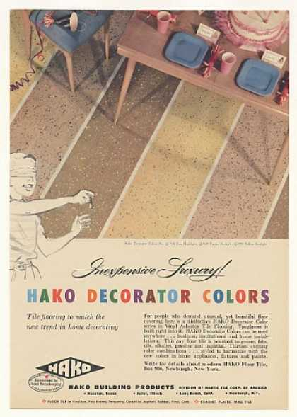 Hako Decorator Colors Vinyl Asbestos Floor Tile (1956)