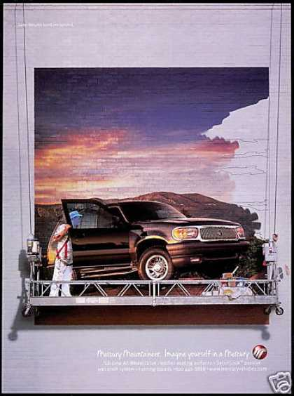 Mercury Mountaineer 4WD SUV Wall Mural (1999)
