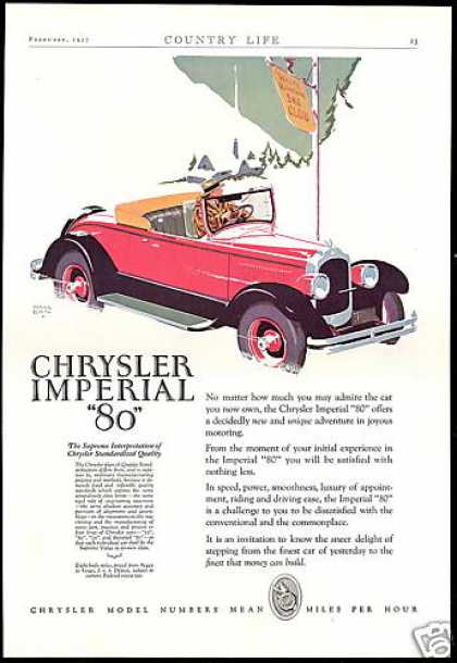 Chrysler Imperial 80 Car White Mt Ski Club (1927)
