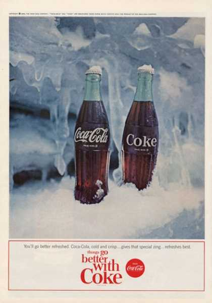Coca- Cola Coke Features Glass Bottles (1964)
