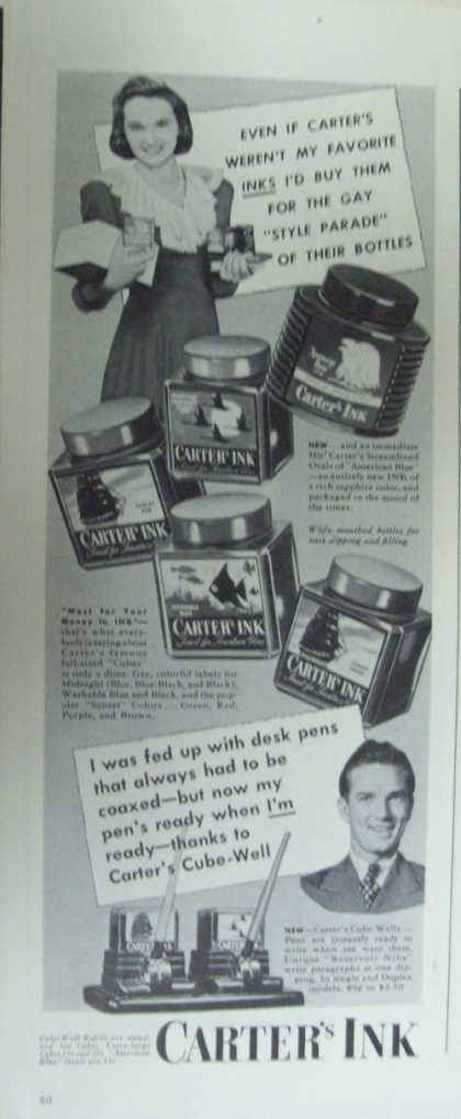 Carters Ink for Pens (1941)