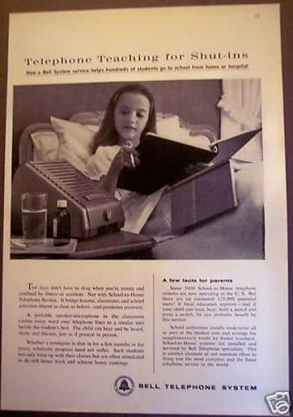 Bell Telephone for Shut-ins Little Girl (1962)