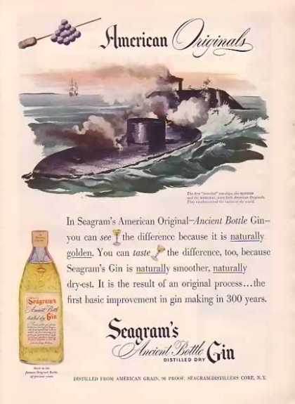Seagram&#8217;s Gin &#8211; Monitor &amp; Merrimac (1948)