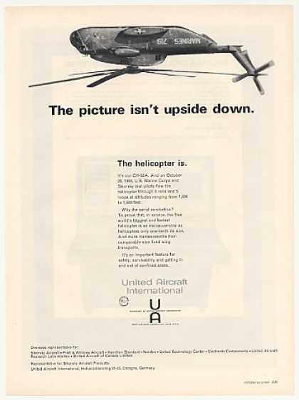 Marines United Aircraft CH-53A Helicopter Photo (1969)