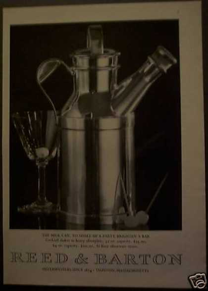 Reed & Barton Heavy Silverplate Cocktail Shaker (1975)
